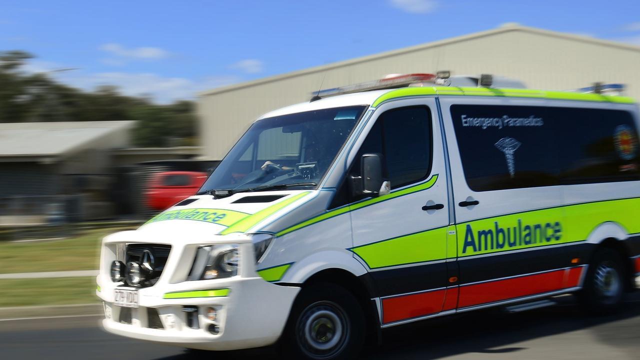 Queensland Ambulance Service paramedics responded to a crash where a car went down an embankment.