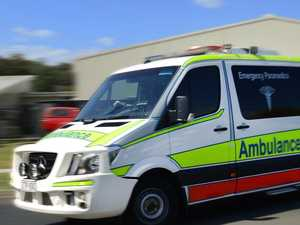 Young woman injured as car comes off rural road