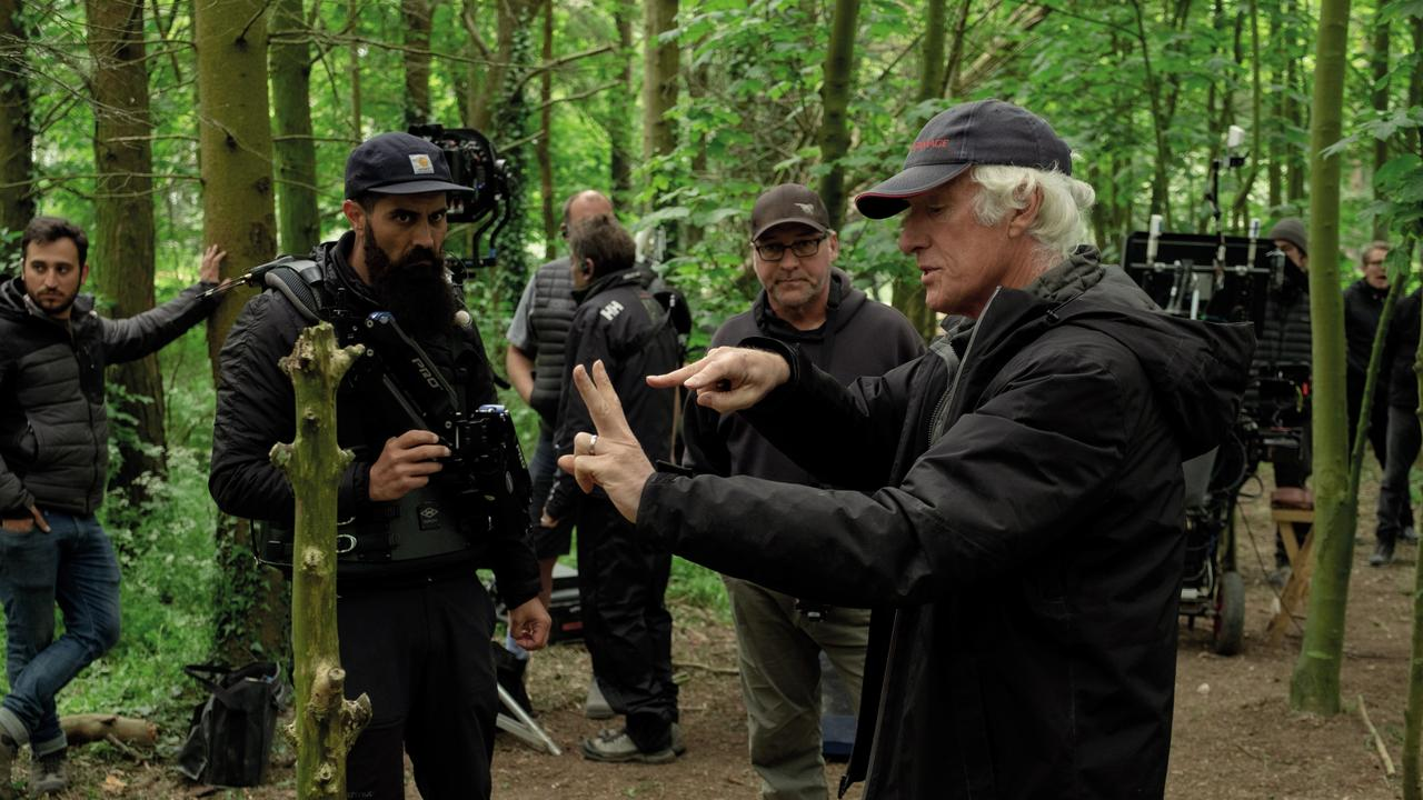 Oscar-winning cinematographer Roger Deakins on the set of 1917
