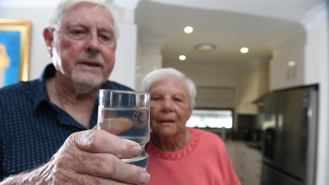 Alex and Myra Arrighi of Palm Lakes Resort in Ballina discovered they were drinking recycled water after a plumbing issue at their property. Photo: Marc Stapelberg