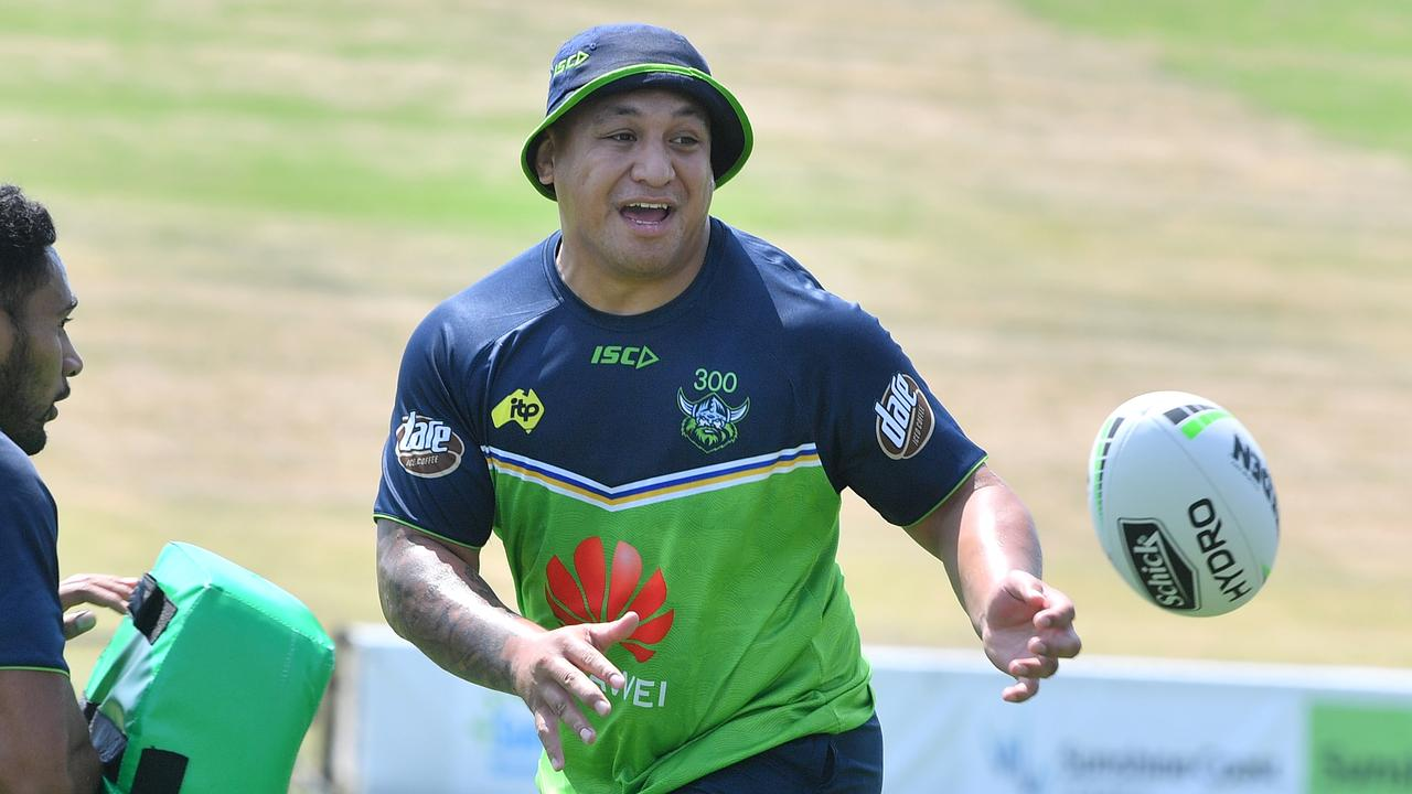 NRL team the Canberra Raiders on the Sunshine Coast training for the 2020 NRL season. Josh Papalii. Photo: John McCutcheon / Sunshine Coast Daily
