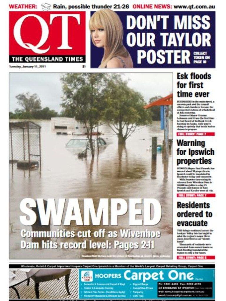 The QT's front page on this day in 2011.