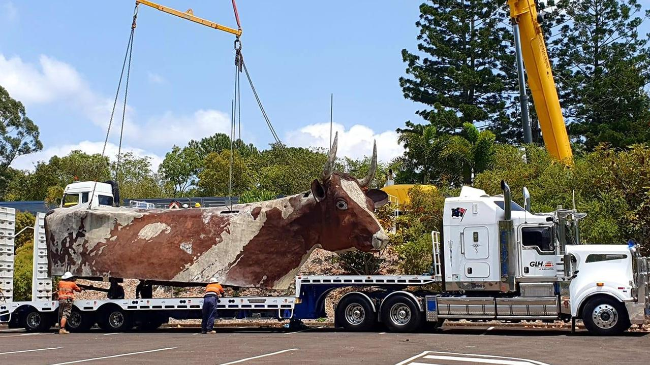 The Big Cow is being moved from its Sunshine Coast home. PHOTO: Facebook