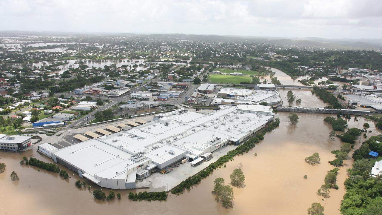Ipswich CBD looking North. Riverlink Shopping Centre. Photo: Rob Williams / The Queensland Times