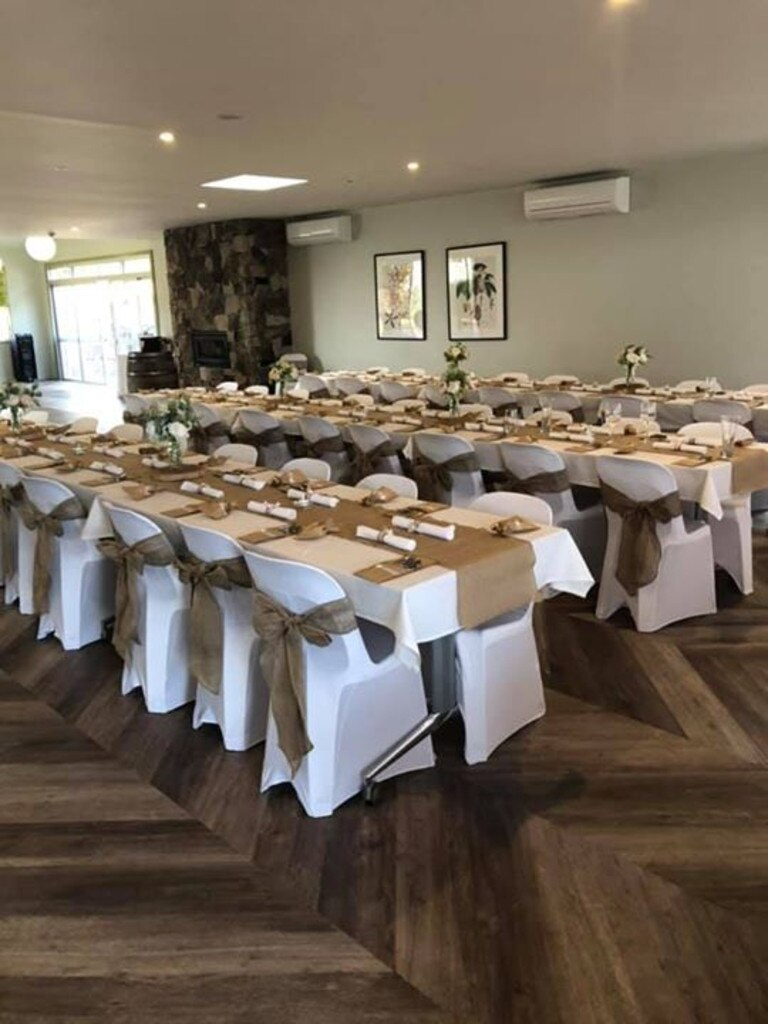 Tracey Edmondstone Hadley's wedding was kept affordable yet beautiful by making the most of a friend's property and the local aged care community hub.
