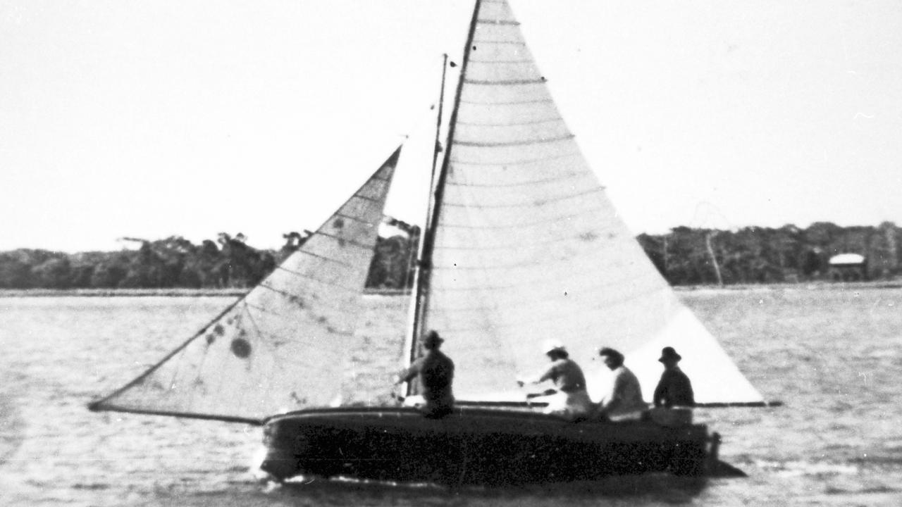 Sailing skiff on the Maroochy River, Maroochydore, 1920s. Picture: Contributed