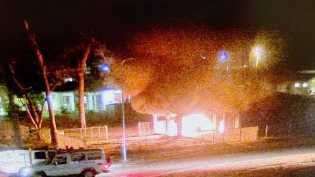 Police photos of Aurukun community unrest. Supplied by Queensland Police Service