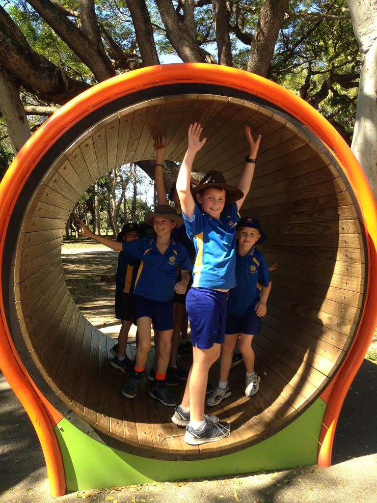 Children enjoying the playground at Queens Park in Mackay.