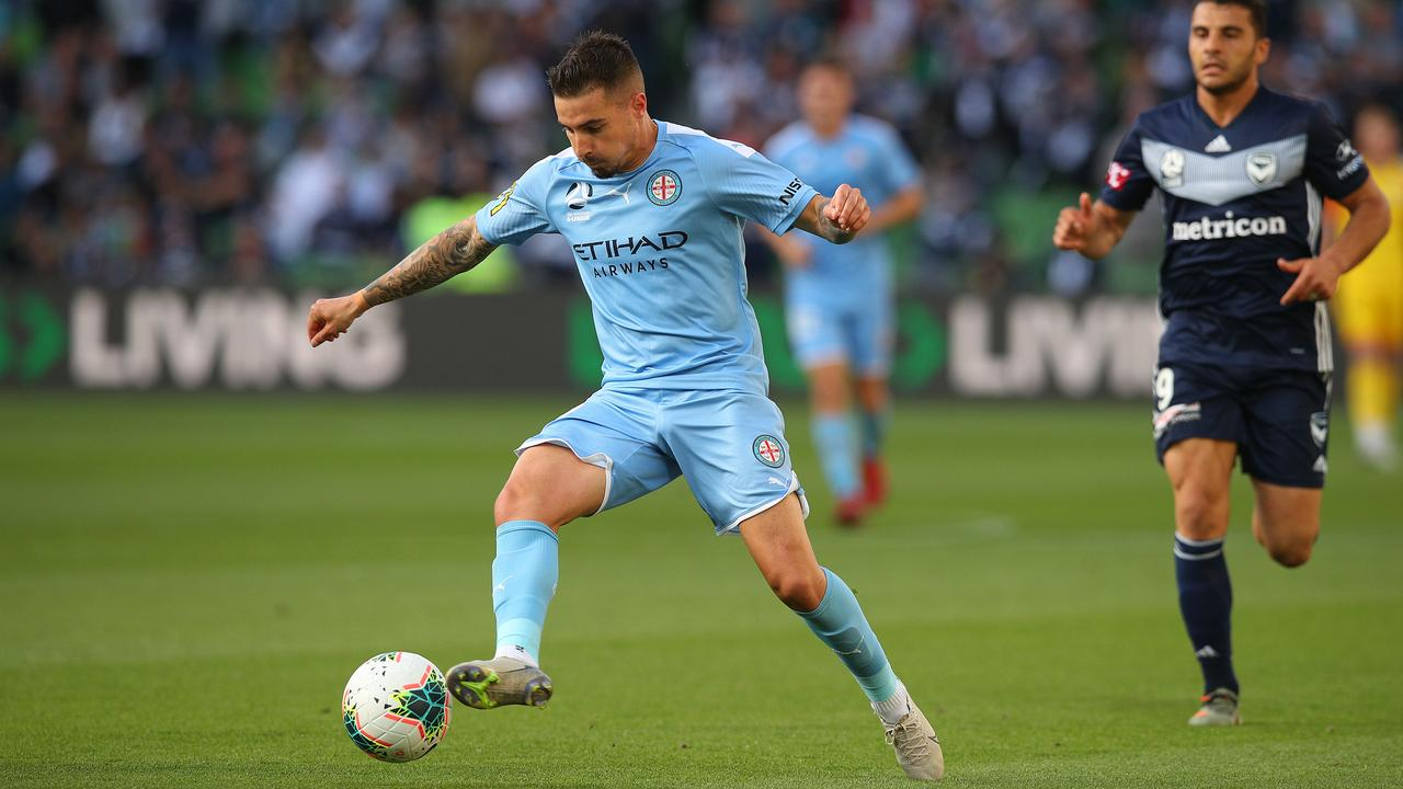 Melbourne City striker Jamie Maclaren is the A-League's leading goalscorer this season. Picture: Graham Denholm/Getty Images