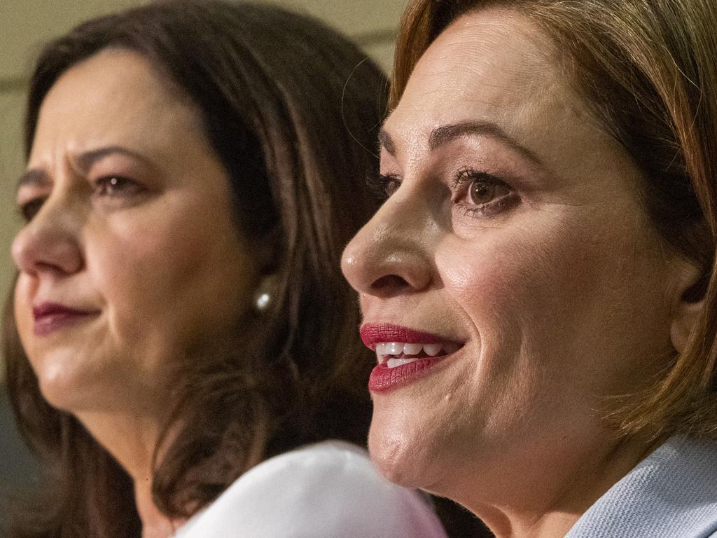 Palaszczuk has been accompanied by 'Australia's worst teasurer' Jackie Trad.