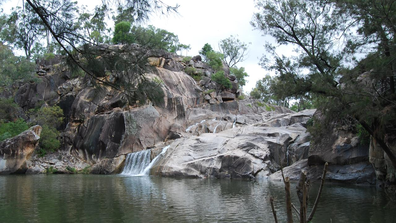 Coomba Falls, not far from Kingaroy. A popular swimming spot. Picture: Contributed