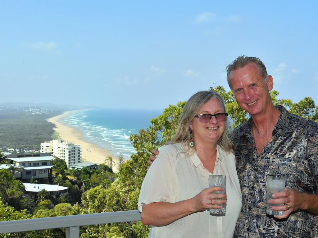Richard and Marella Clarke are parting ways with their beloved home in Coolum to honour their duties as grandparents. Photo: John McCutcheon