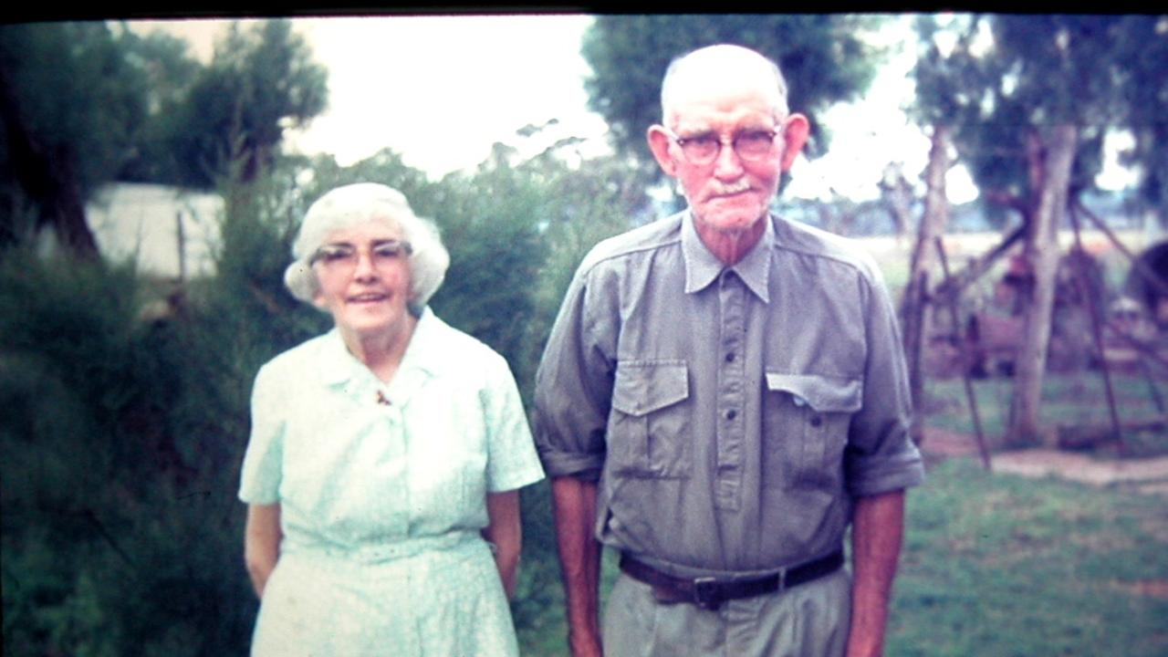 Lifelong resident of Bell, Sam Bradley, with his wife Violet He was a grandson of Angus McPhee and remembered the old pioneer well.