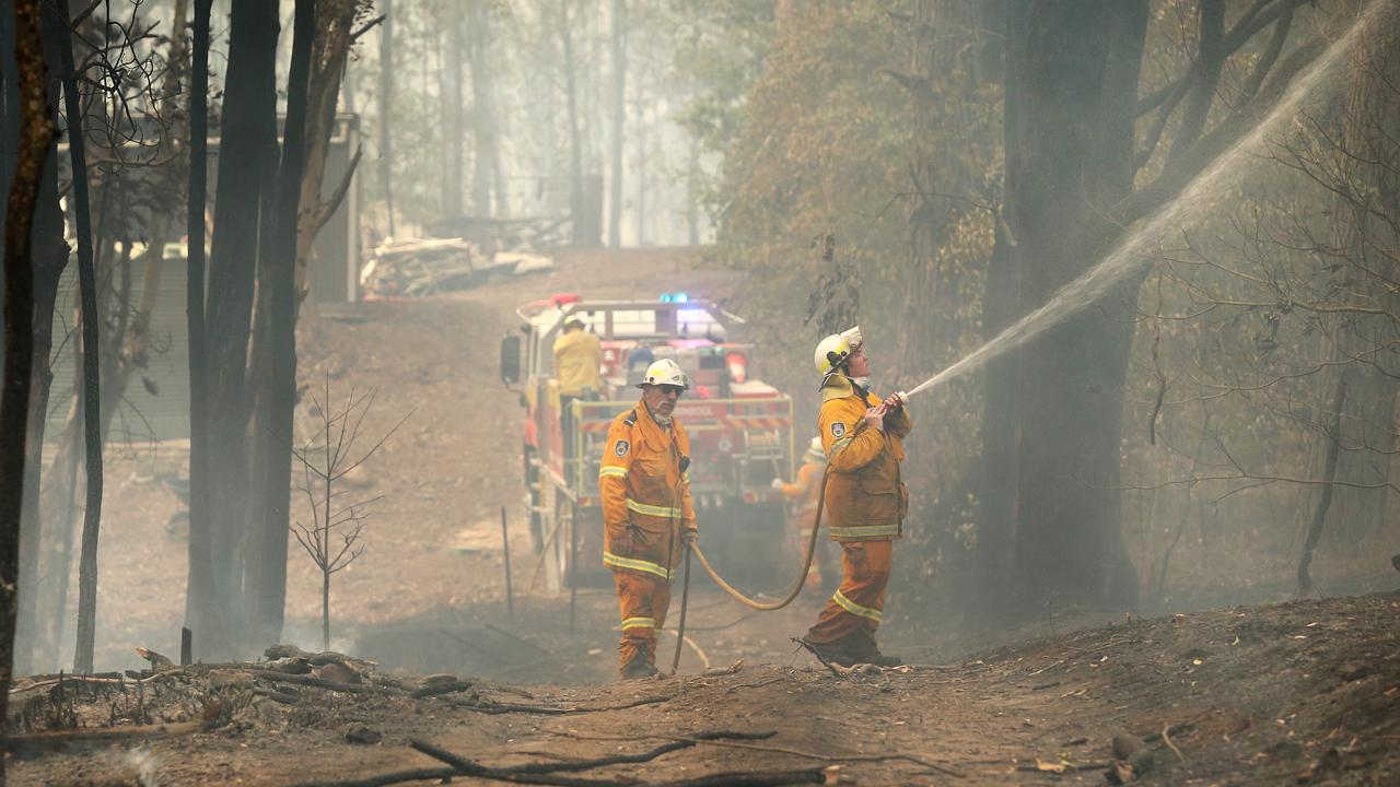 The Sunnataram Buddhist retreat in Penrose where the NSW RFS pinned back a bushfire that threatened to destroy it. Picture: Richard Dobson