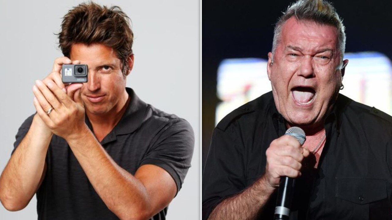 GoPro founder Nick Woodman and Jimmy Barnes.