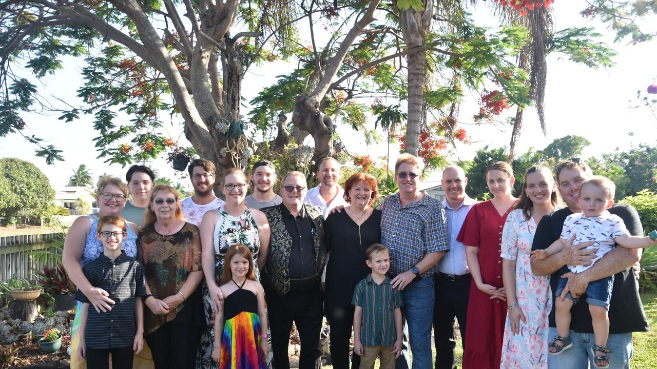 Linda and Brian Hunter celebrate 50 years of marriage with their family. Contributed