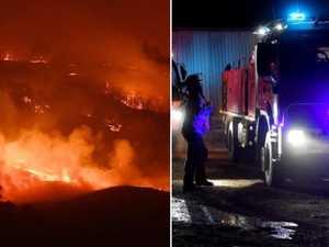 Man burned, four fireys injured in overnight bushfire battle