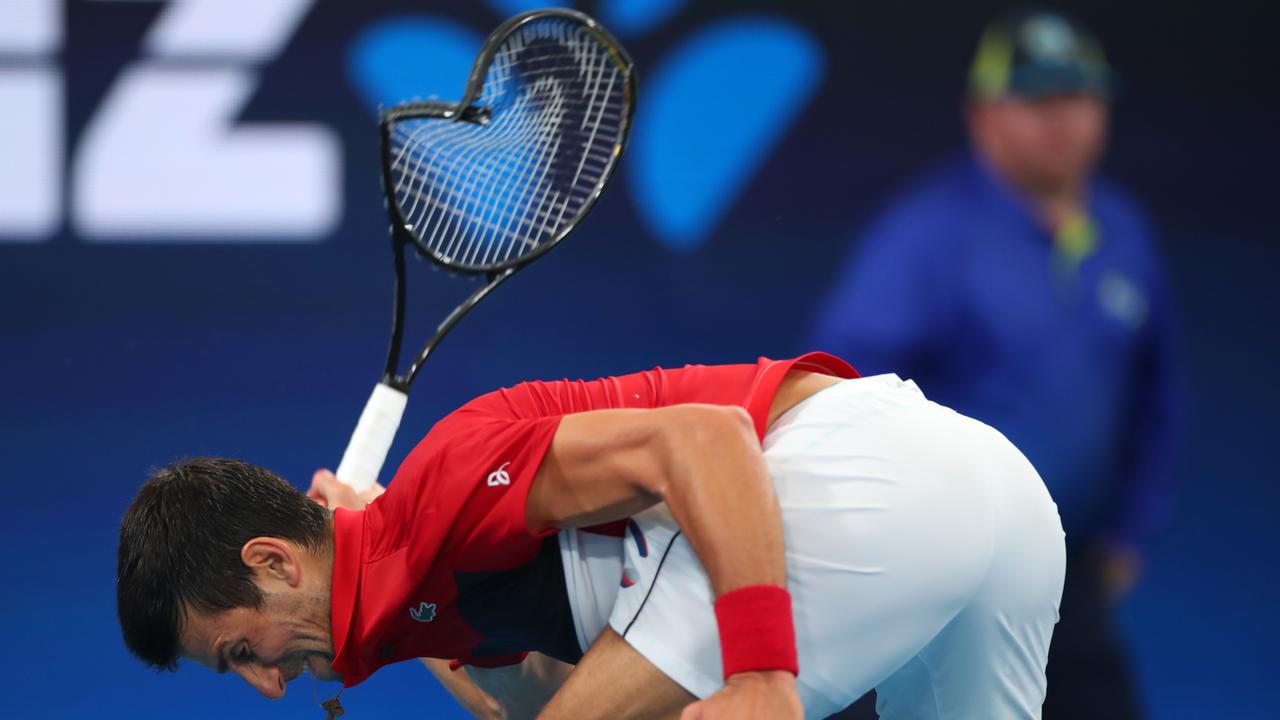 Djokovic lost his temper … again