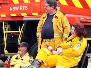 At last, sweet relief arrives for fireys