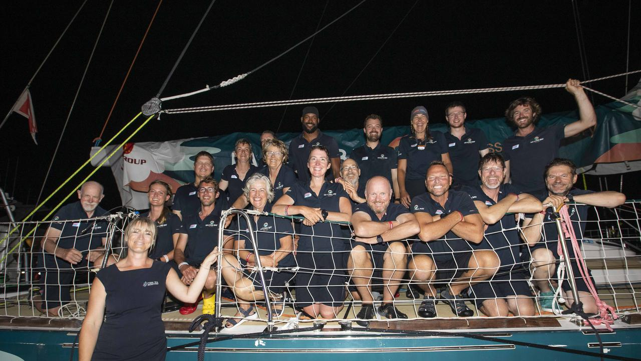 The Ha Long Bay, Viet Nam team had been at sea for 19 days before their arrival last night. Image: Supplied/Brooke Miles Photography