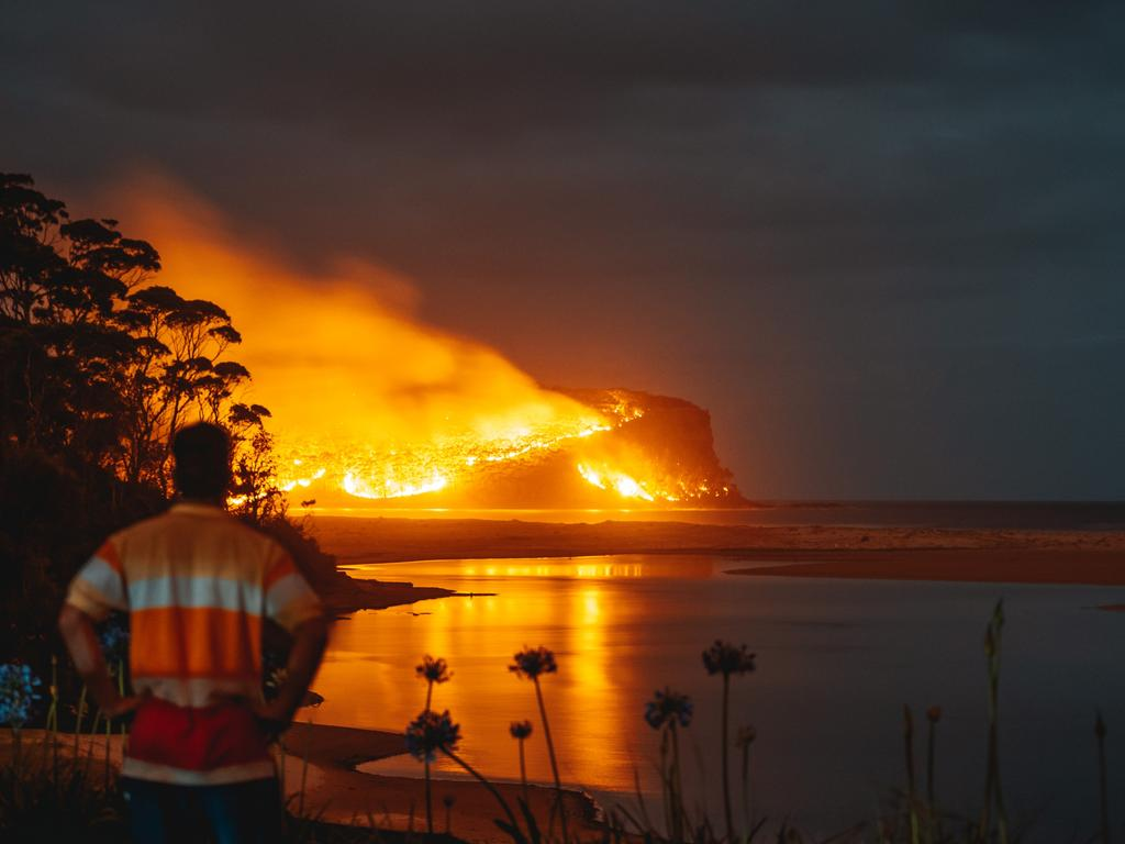 Point Upright burns in the fires. Picture: Josh Burkinshaw