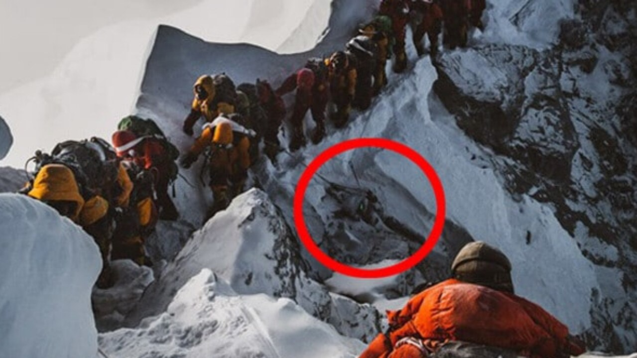 Elia Saikaly's disturbing photograph of a body on the side of Mount Everest. Source:Supplied