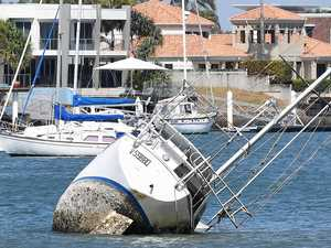 Ocean's away as half-sunken yacht to be removed