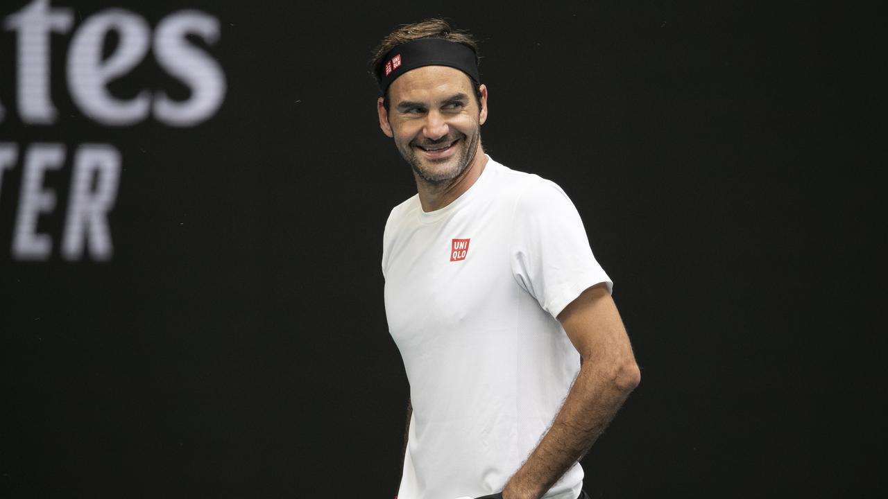 Roger Federer has arrived at Melbourne Park. Picture: AAP Images