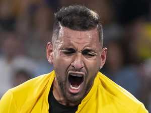Cool Kyrgios cops painful reality check