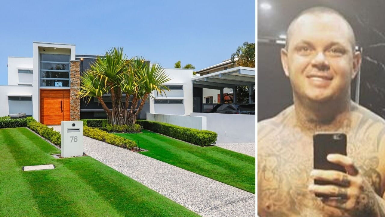 Graphic for bikie's window selling Gold Coast home.