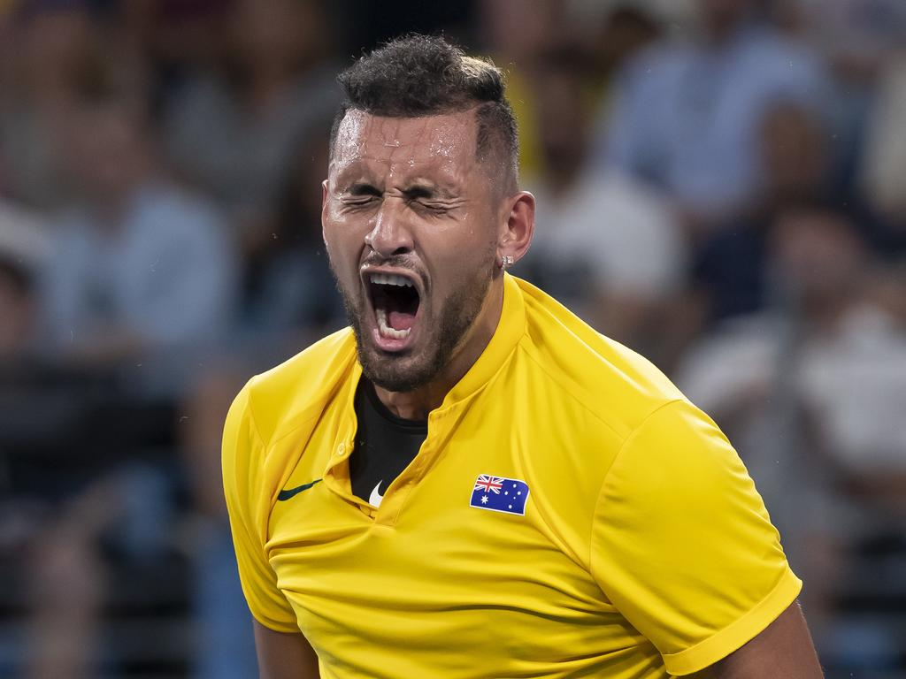 Kyrgios wasn't happy during the match.