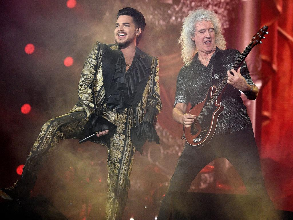 Queen and Adam Lambert will play a mini-set at the Fire Fight concert. Picture: Theo Wargo/Getty