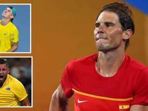 Nadal rattled, but Spain dumps Aussies