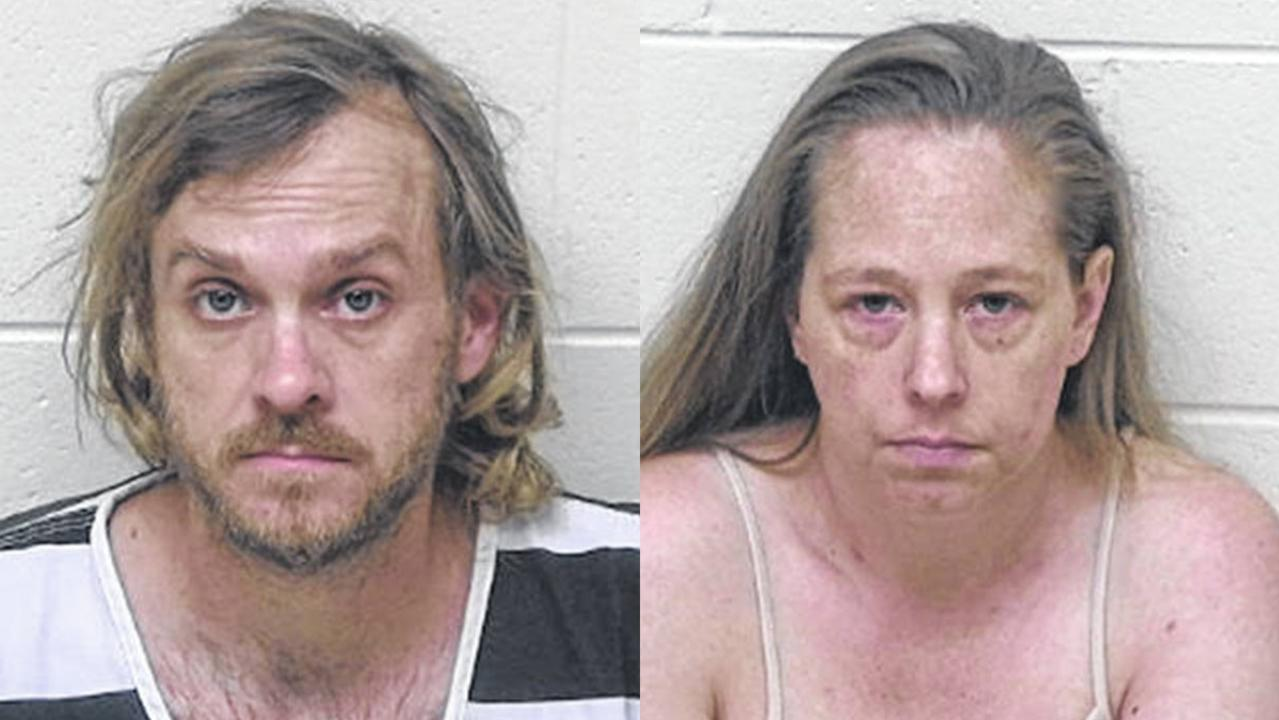 Dyland and Jessica Groves' mugshots.