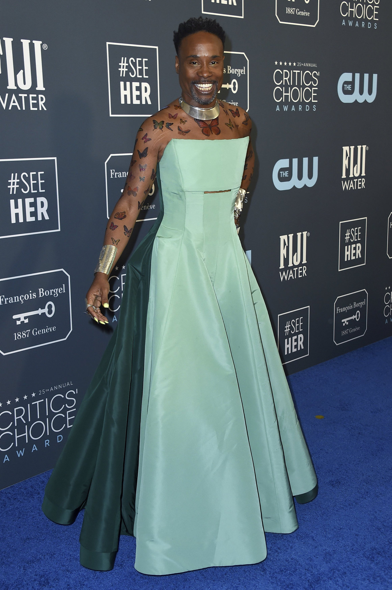 Billy Porter arrives at the 25th annual Critics' Choice Awards at the Barker Hangar in Santa Monica, Calif.
