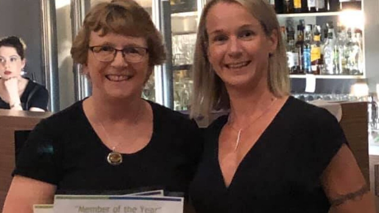WINNERS ARE GRINNERS: Barb Hultgren accepts her Member of the Year award from Kate Davidson, EFM Health Club Noosaville.