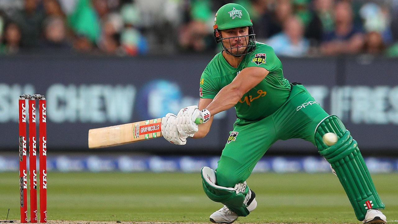 Marcus Stoinis was blasting balls all over the ground against the Sixers. Picture: Getty Images
