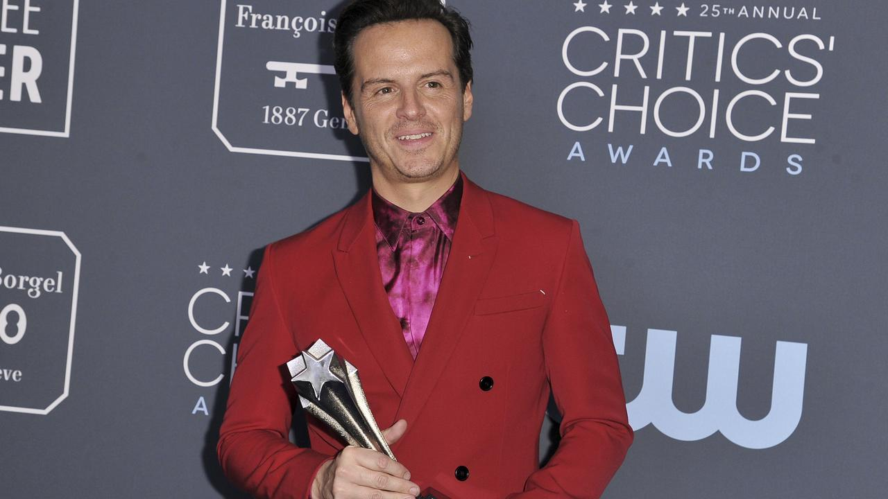 Andrew Scott won Best Supporting Actor in a comedy series. Picture: AP
