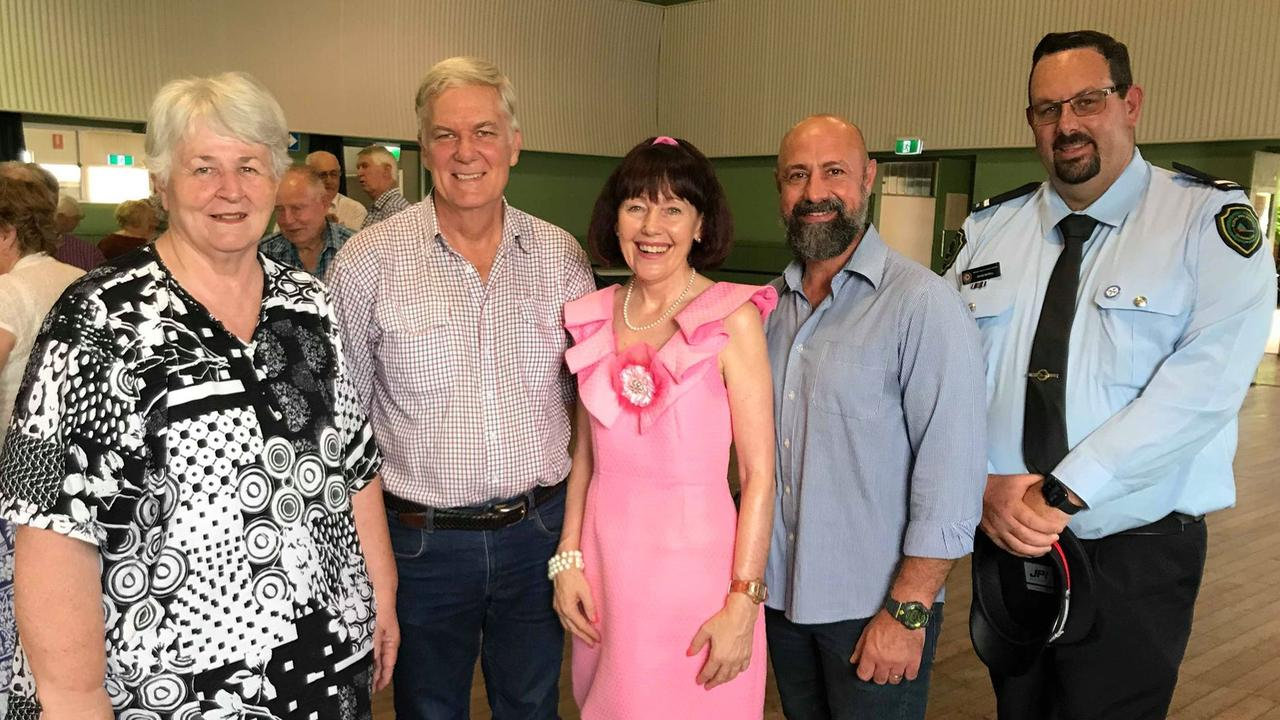 Michelle Smith, Iain Watt, Kathy Duff and Daniel Pelcl with Q&A guest David Sewell at the Wondai Community Prayers session held on Saturday. Picture: Laura Blackmore