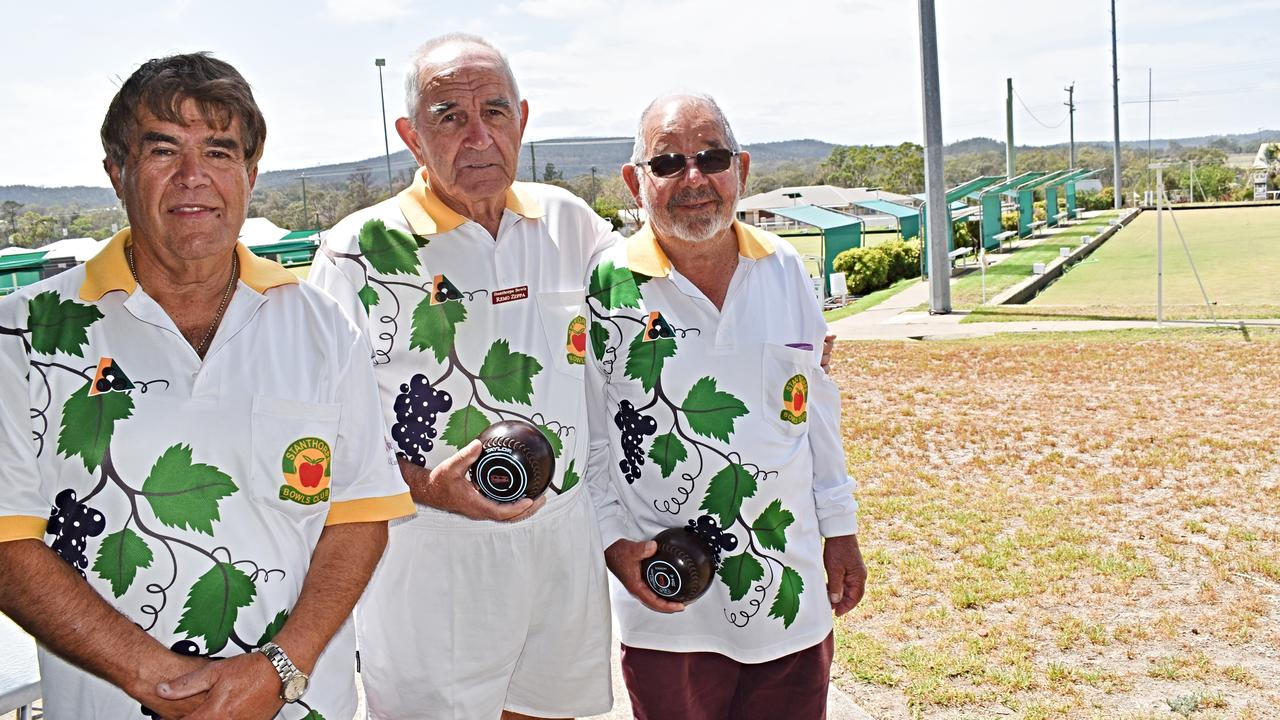 NEW VENTURE: Stanthorpe Bowls Clubs' Len Girgenti, Remo Zeppa and president Ray Rankin.