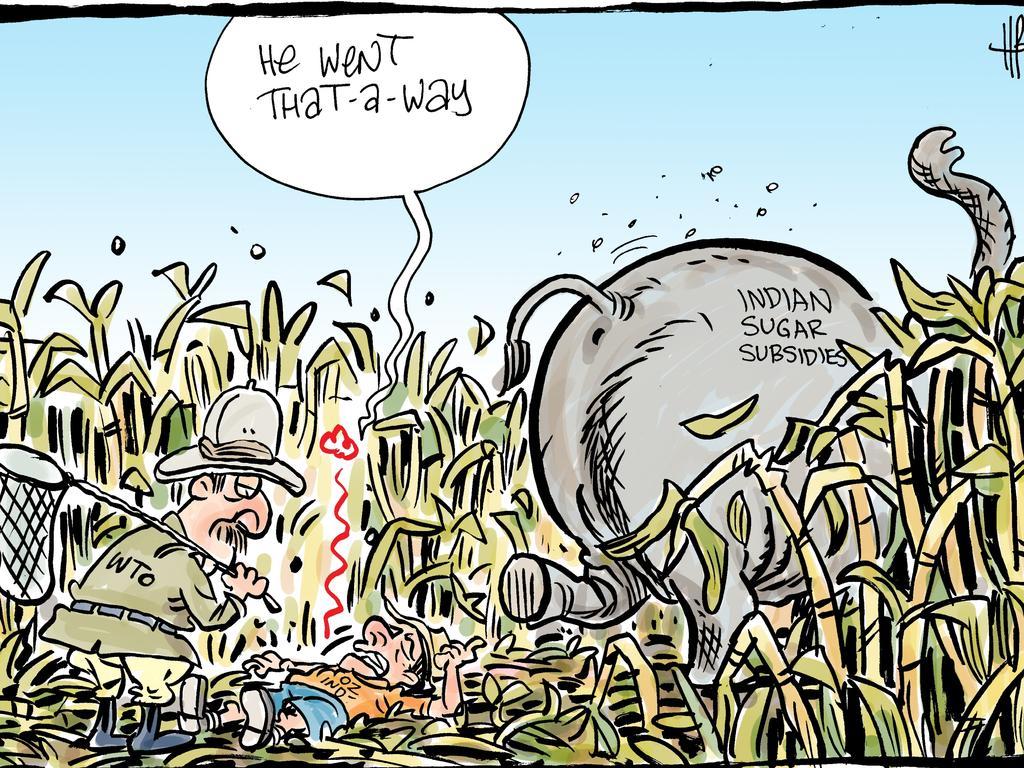 Harry Bruce's cartoon for the Daily Mercury for February 28 2019.
