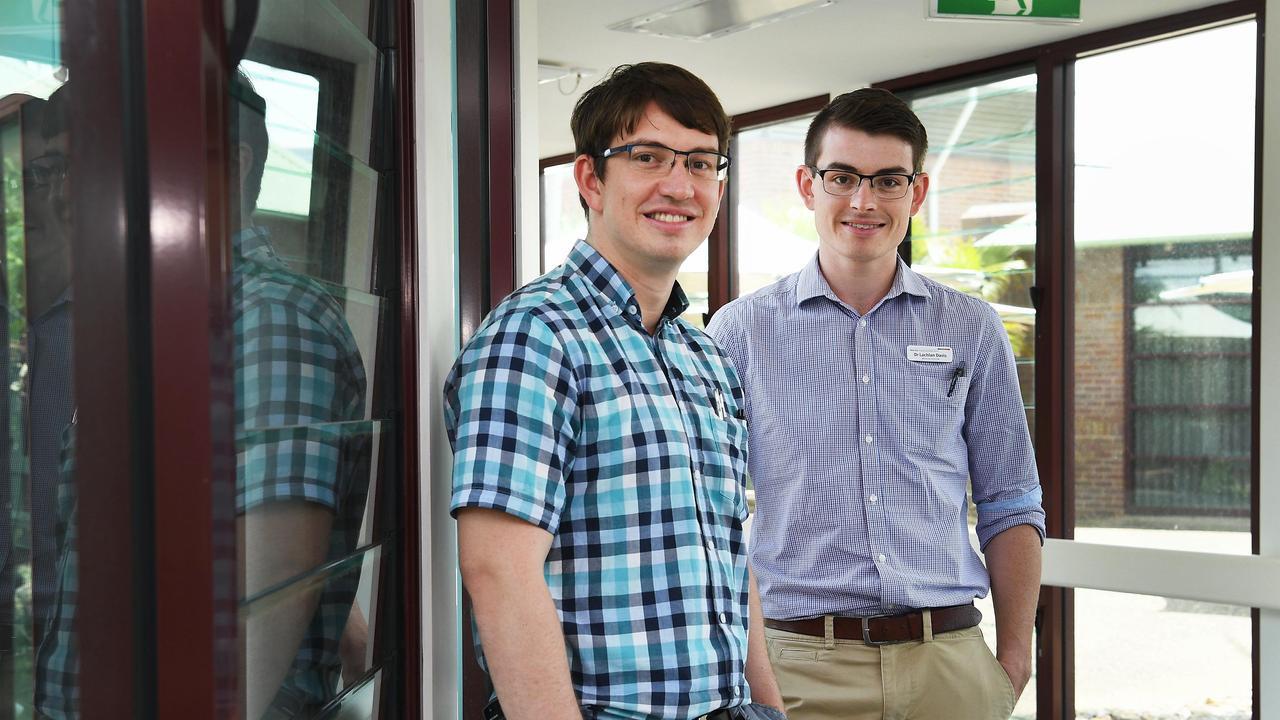 Intern Doctors – Brothers Mitchell and Lachlan Davis both work at Hervey Bay Hospital. Photo: Cody Fox