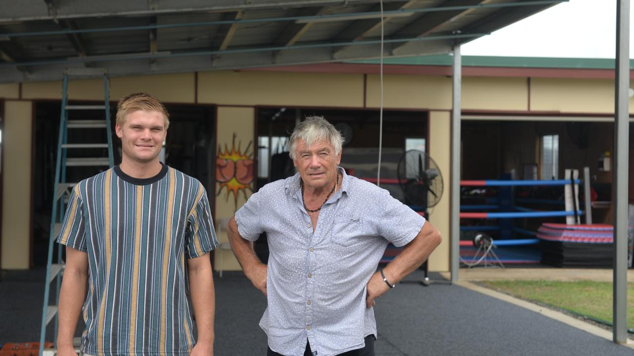 Attila and Philip Kovacs standing out the front of the new gym.