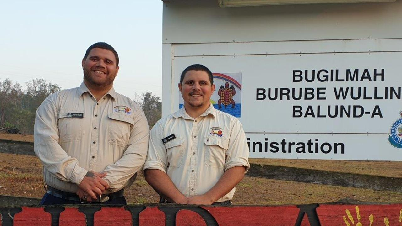 SHARING CULTURE: Jordan and Joe Walker are program support officers at Corrective Services NSW's Balund-a facility.