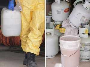 Men arrested after guns, chemicals found in alleged drug lab