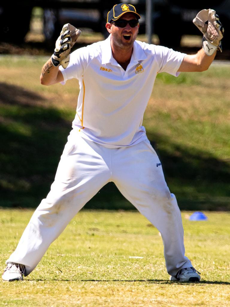 Gympie Gold v Caloundra - Gold wicketkeeper Steve Brady.