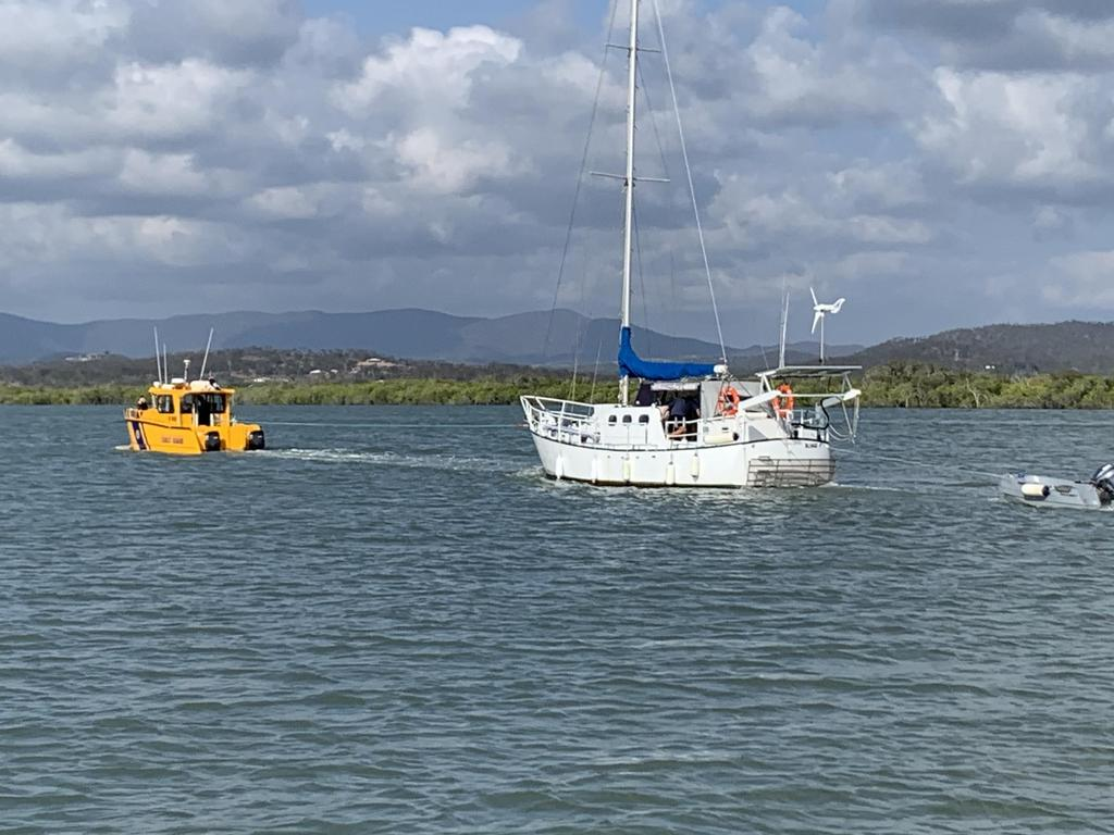 A VESSEL stranded in Cawarral Creek for 12 days was successfully towed back within city limits on the weekend, taking 13 hours to reach its destination. Yeppoon Coast Guard were able to assist the owner of