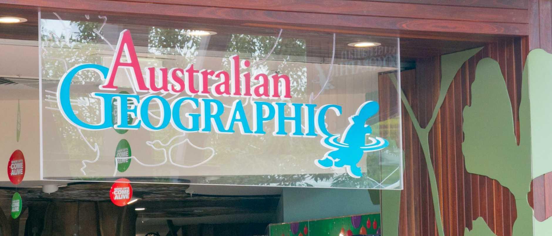 Australian geographic store in warringah mall shopping centre,sydney,australia