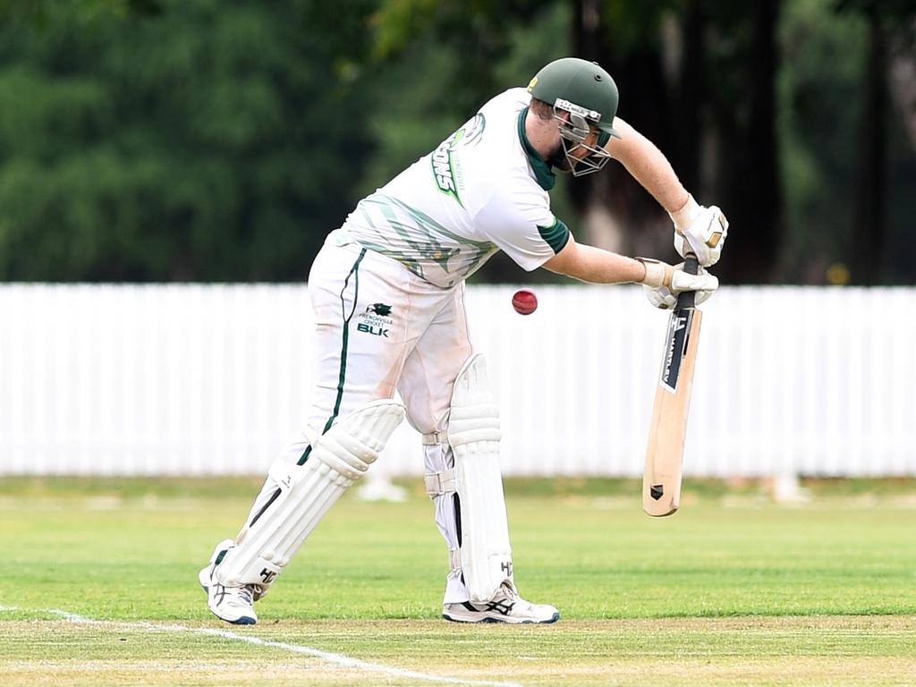 CRICKET - FSC CAP CHALLENGE: Frenchville Falcon's Lachlan Hartley