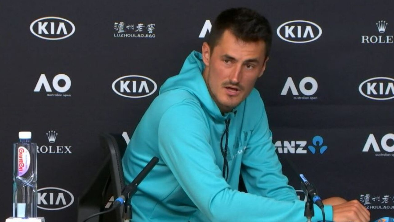 Bernard Tomic unleashed on Lleyton Hewitt. Picture: Supplied